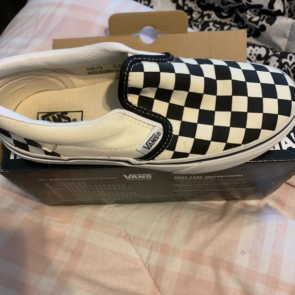 Shoes   Checkered Vans Women Size 5